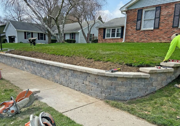 Retaining wall landscaping