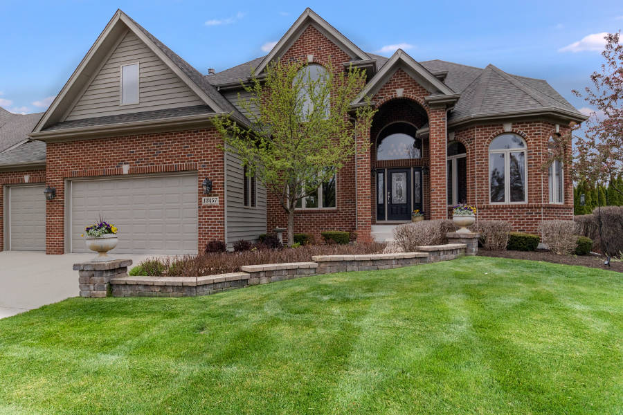 Freshly mowed property in Plainfield, Illinois.
