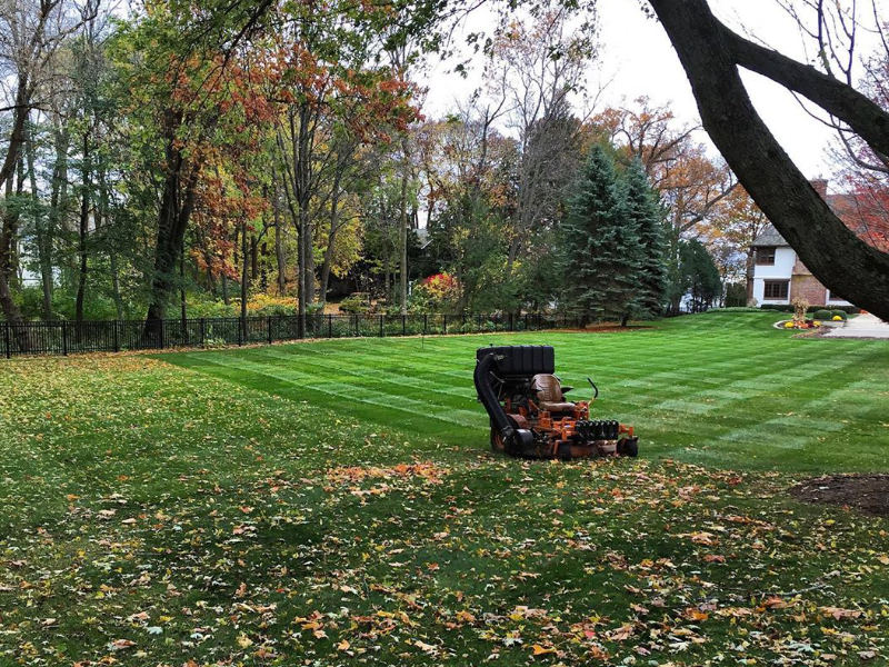 Mowing service and leave pick up during fall season.